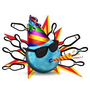 Lakewood Lanes Mr. Party Ball Logo